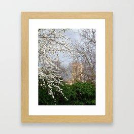 La higuera, el cerezo,  la hiedra. Framed Art Print