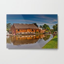 Shardlow Boat Yard Metal Print