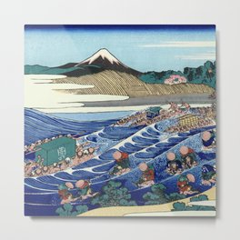 Hokusai -36 views of the Fuji 45 The Fuji from Kanaya on the Tokaido Metal Print