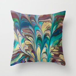 Flowery Sail Throw Pillow