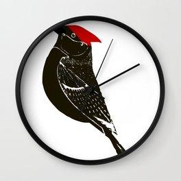 Birds- wood pecker Wall Clock