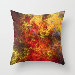 The Chaotic Seas of the Nebulous Star Nursery Throw Pillow