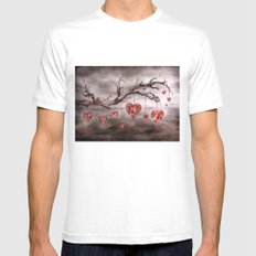 The new love tree White Mens Fitted Tee MEDIUM