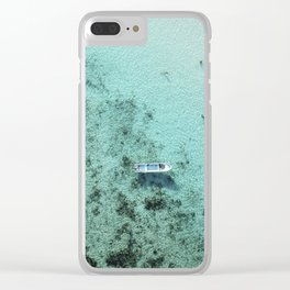 Fishing boat Clear iPhone Case