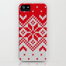 Winter knitted pattern 10 iPhone Case