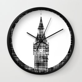 Big Ben Grunge Background Wall Clock