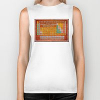 periodic table Biker Tanks featuring Vintage Industrial Periodic Table Of The Elements by Mark E Tisdale