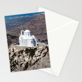Lonely church in Greek mountains Stationery Cards