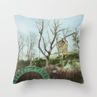 moulin rouge Throw Pillows featuring Moulin by Andrea Fg