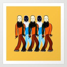 Beard long Art Print