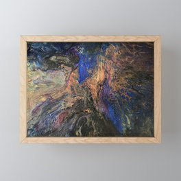 Galaxy Dance - Cosmos Celestial Universe and Space Inspired Abstract Fluid Art Framed Mini Art Print