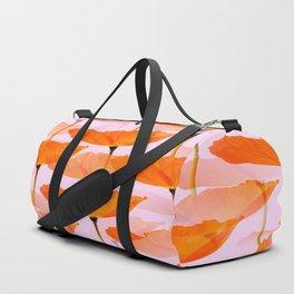 Orange Poppies On A Pink Background #decor #society6 #buyart Duffle Bag