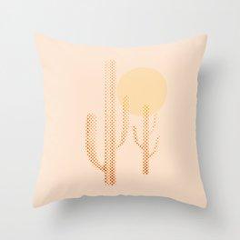 dusty cactus Throw Pillow
