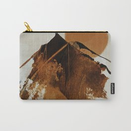 abstract mountains, rustic orange sunrise Carry-All Pouch