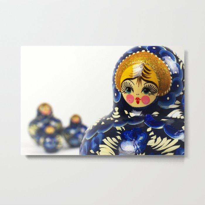 Babushka nesting dolls Metal Print