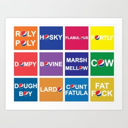 Pepsi Mock - Fat Names Art Print
