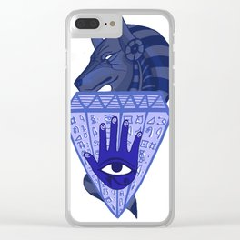 Anubis The God of Death Clear iPhone Case