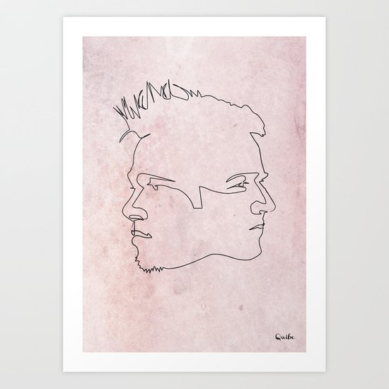 One line Fight Club Art Print
