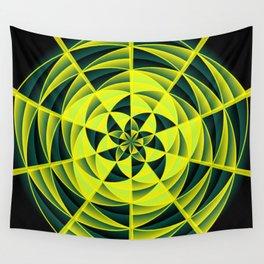 Green swirl Wall Tapestry