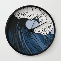 anxiety Wall Clocks featuring Anxiety by Ksenia Palfy