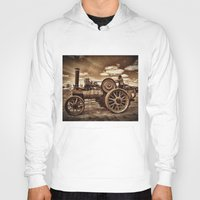 jem Hoodies featuring Jem General Purpose Engine in sepia by Avril Harris
