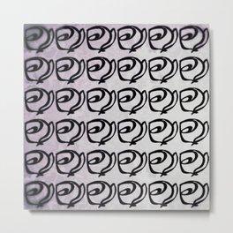 Rows of Flowers, Purple Metal Print