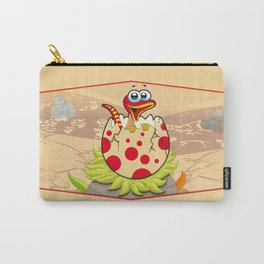 Hatching Dinosaur and Stripes for Kids Carry-All Pouch
