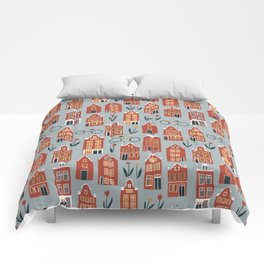 Charming Dutch Houses Comforters