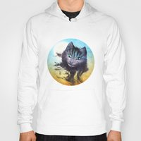 cheshire Hoodies featuring Cheshire Cat by Diogo Verissimo