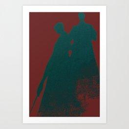 Shadow Men Art Print