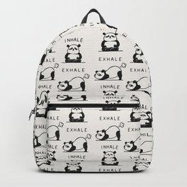 Inhale Exhale Panda Backpack