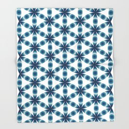 Blue seed of life pattern Throw Blanket