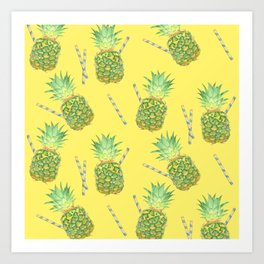 pineapple juice Art Print