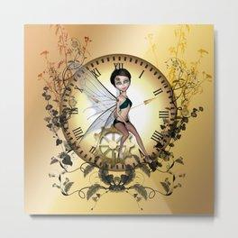 Cute little steampunk fairy  Metal Print