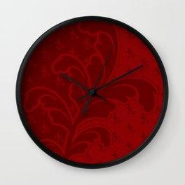 Ferny - Red Wall Clock