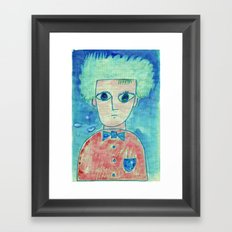 Grid boy Framed Art Print