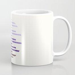 Mid Century Modern Minimalist Circle Round Photo Purple Staggered Stripe Pattern Coffee Mug