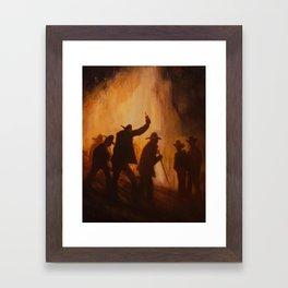 The Bonfire Framed Art Print