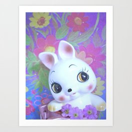 Mod bunny in a boot Art Print
