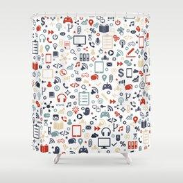Icon pattern Shower Curtain