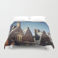 harry potter Duvet Covers featuring Harry Potter Hogsmeade by b4lt1m0re