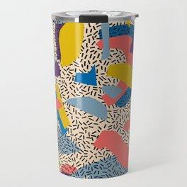 Memphis Inspired Pattern 2 Travel Mug