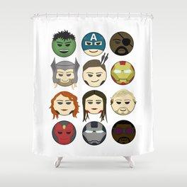 Avenger Emojis :) Shower Curtain