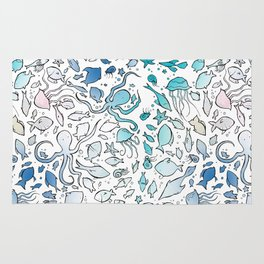 Colorful Sealife Rug