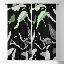 FLORAL ABSTRACTION Blackout Curtain