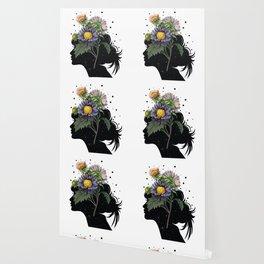 Flower pot head galaxy Wallpaper