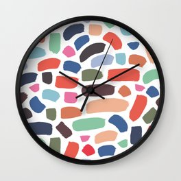 Brush strokes pattern #7 Wall Clock
