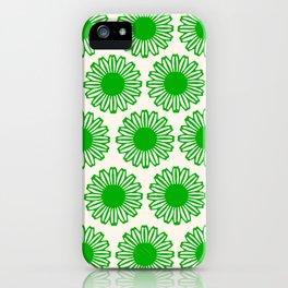 vintage flowers green iPhone Case