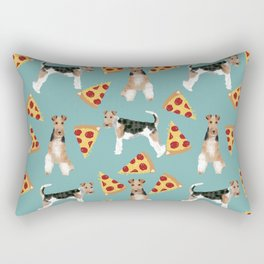 Wire Fox Terrier dog pattern pizza dog lover gifts for dog person dog breeds pet friendly Rectangular Pillow