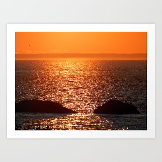 Orange Skies at Sunset Art Print